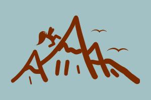 girl running up mountain